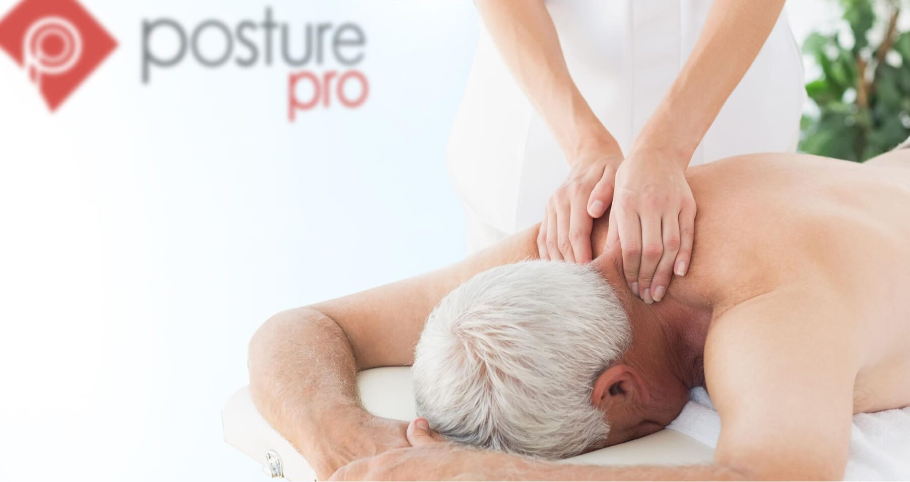 Posturepro Physiotherapy Adelaide image of woman treating elderly man for neck pain